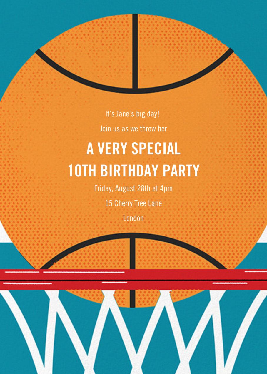 Hoop Dreams - Paperless Post - Kids' birthday