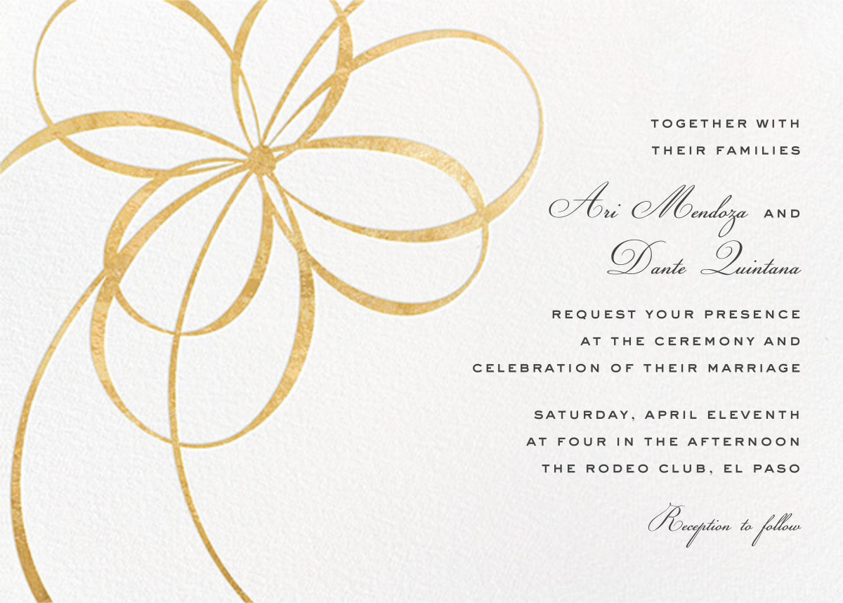 Belle Boulevard (Invitation) - Gold - kate spade new york - All