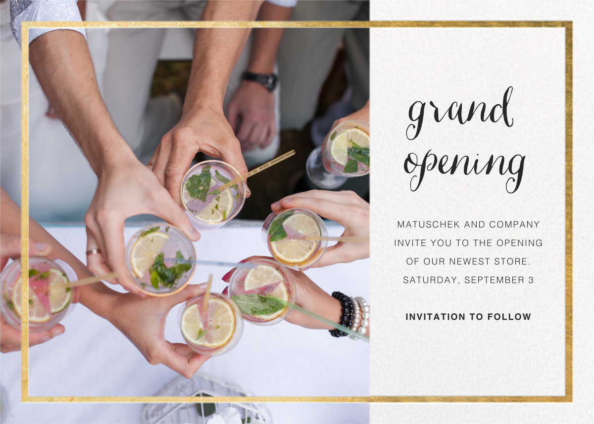 Idylle Photo - White/Gold - Paperless Post - Professional events