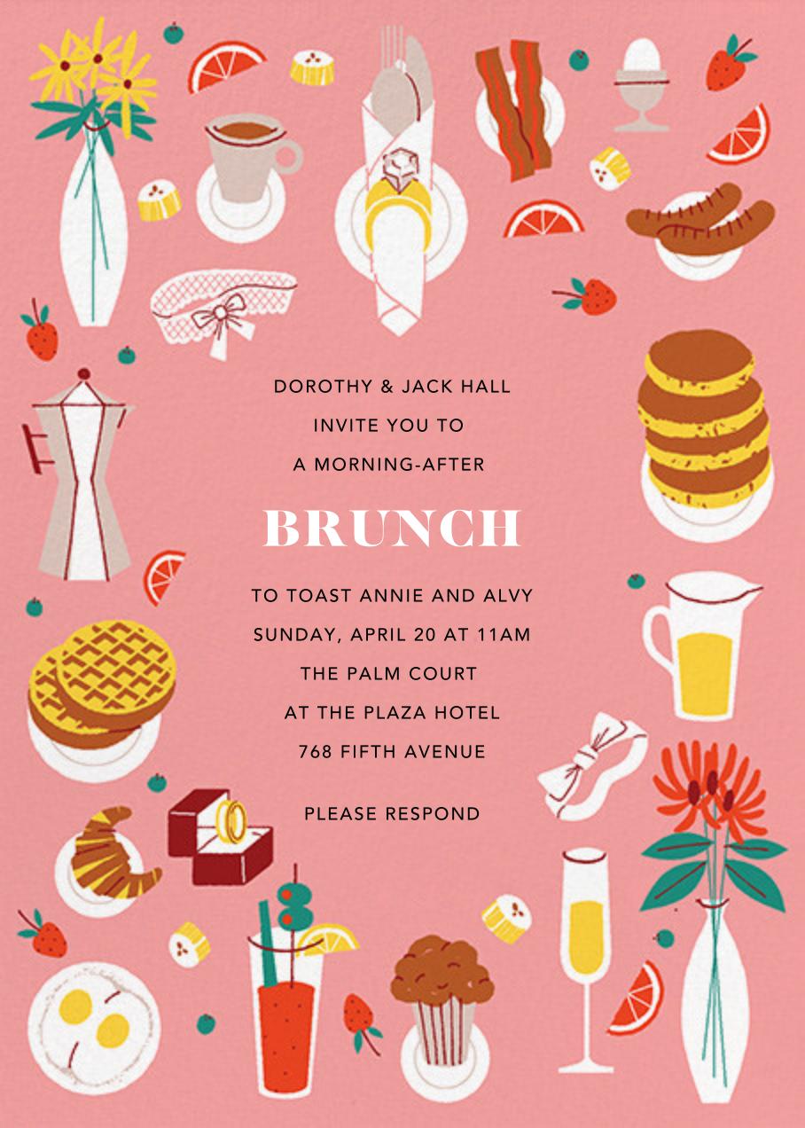 Bridal Buffet - Paperless Post - Wedding brunch