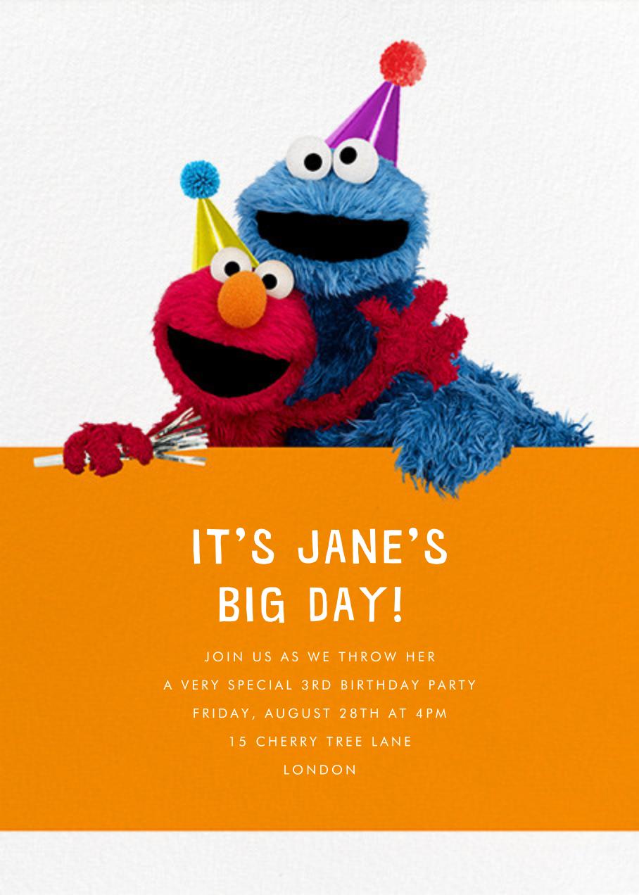 Elmo and Cookie Monster - Sesame Street - Kids' birthday
