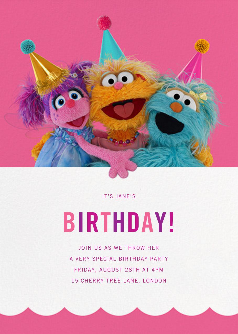 Rosita, Zoe, and Abby - Sesame Street - Kids' birthday