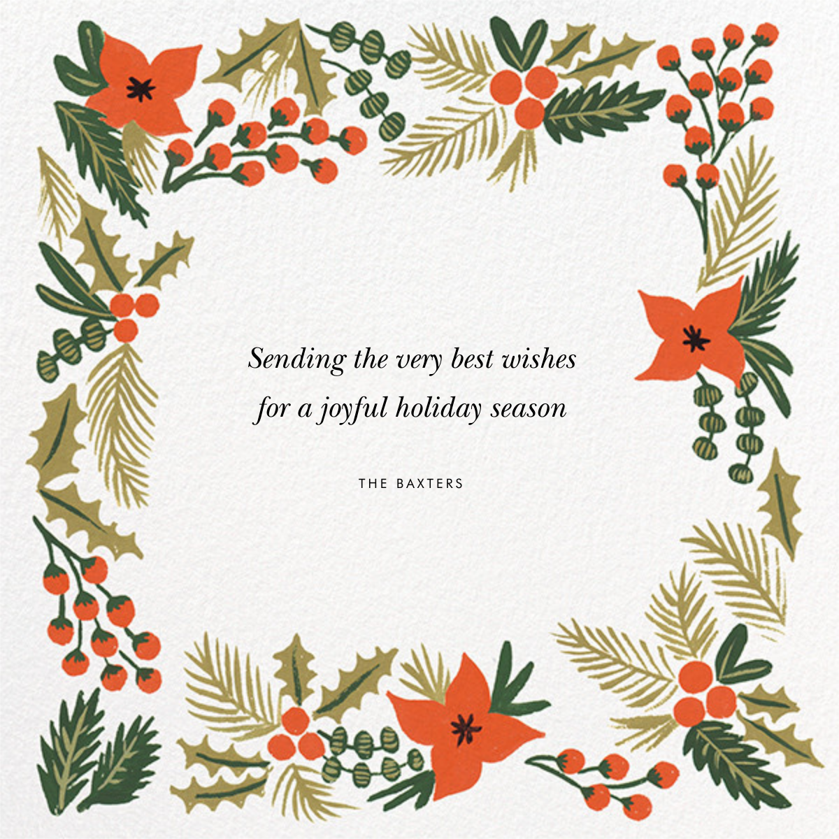 Holiday Potpourri (Square Photo) - Rifle Paper Co. - Holiday cards - card back