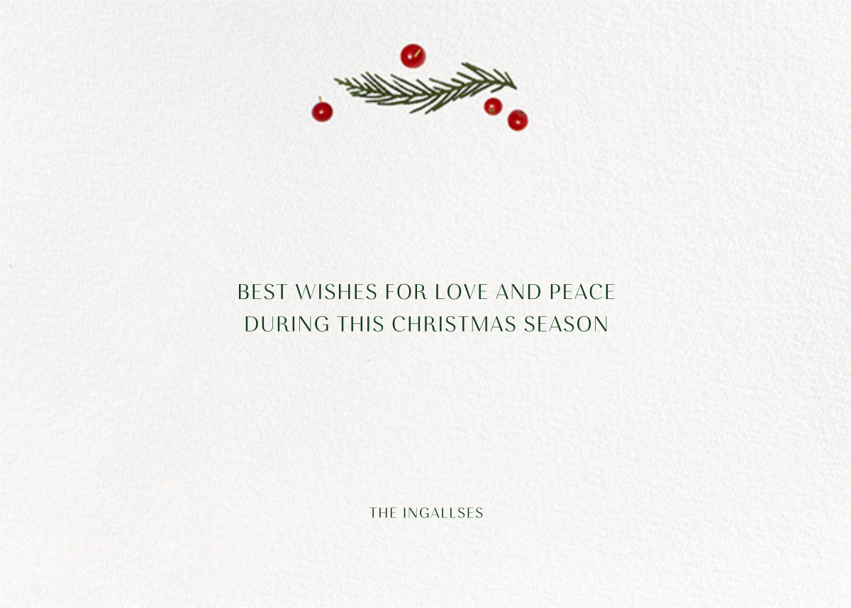 Holly Potpourri - Paperless Post - Christmas - card back