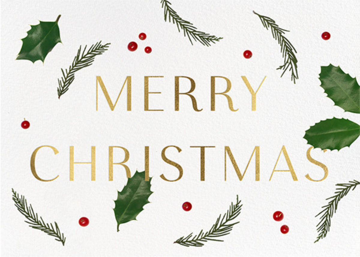 Holly Potpourri - Paperless Post - Business holiday cards