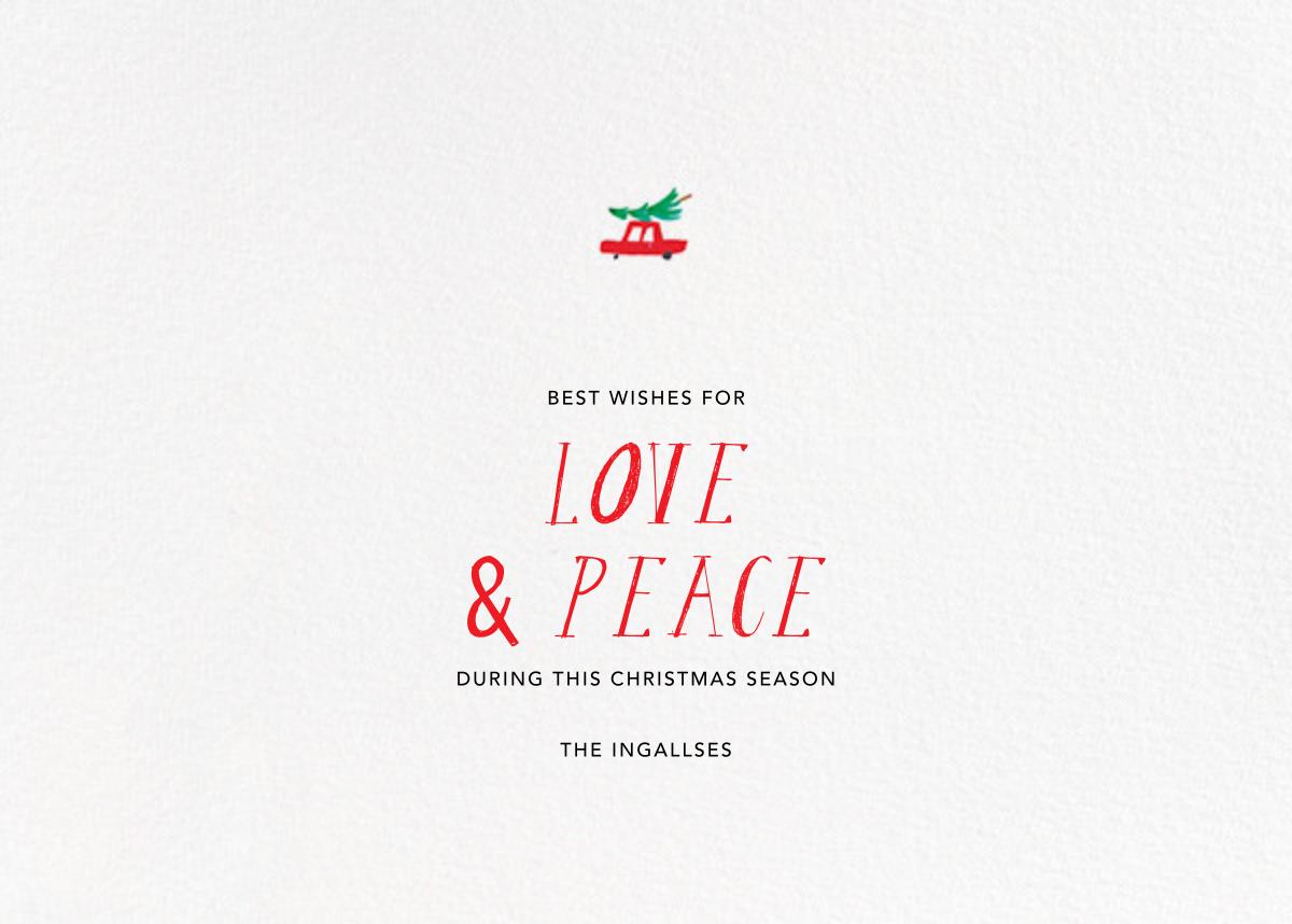 I Love NYC in the Holidays - Mr. Boddington's Studio - Christmas - card back