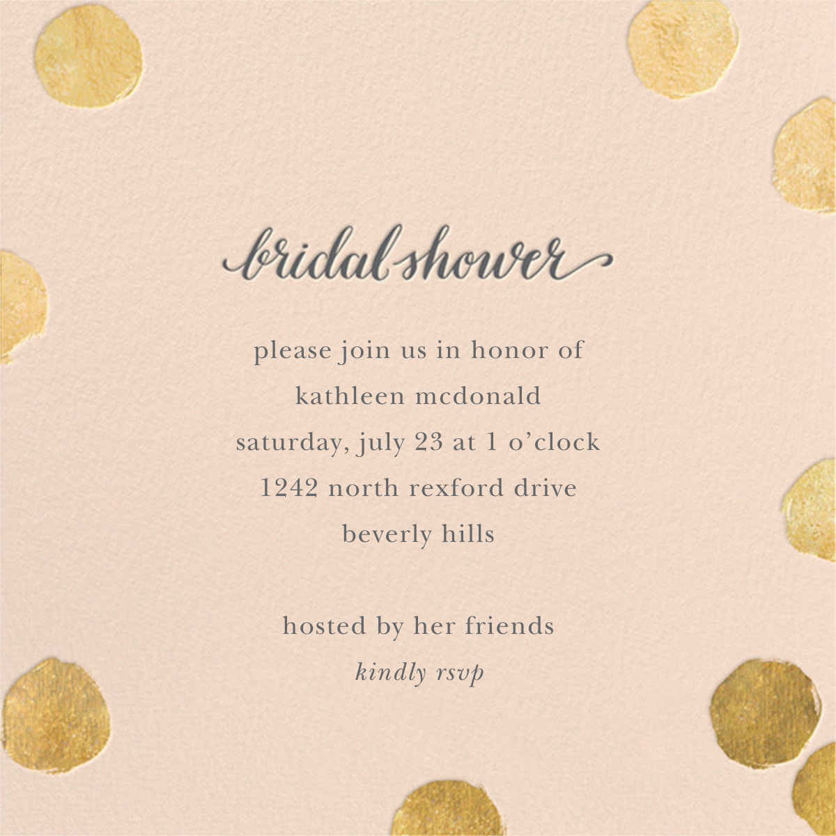 Big Dot Bridal - Meringue/Gold - Sugar Paper - Bridal shower