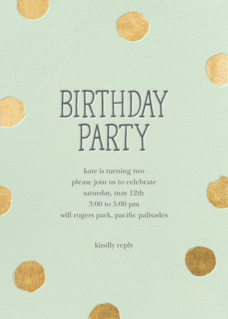 Big Dot Birthday (Tall) - Mint - Sugar Paper - Kids' birthday