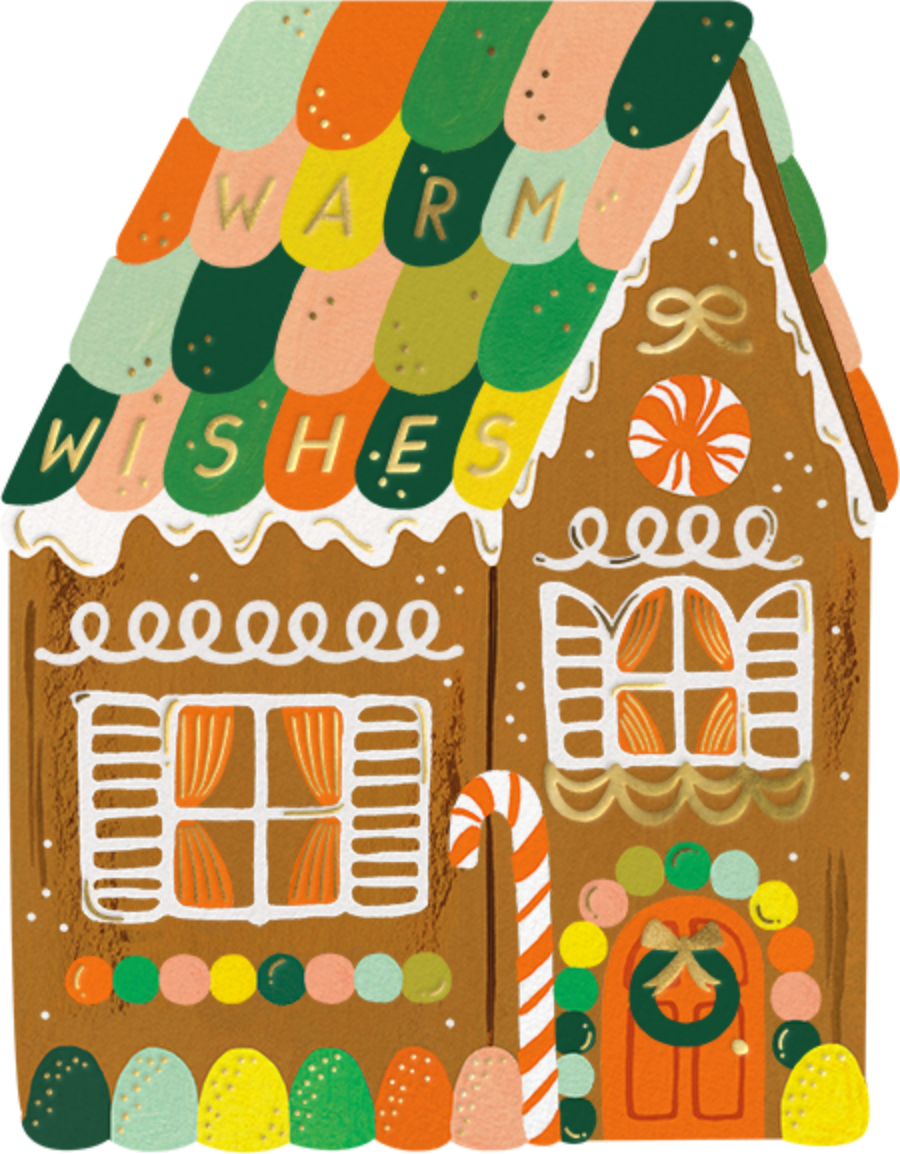 Gingerbread House (Greeting) - Rifle Paper Co. - Holiday cards