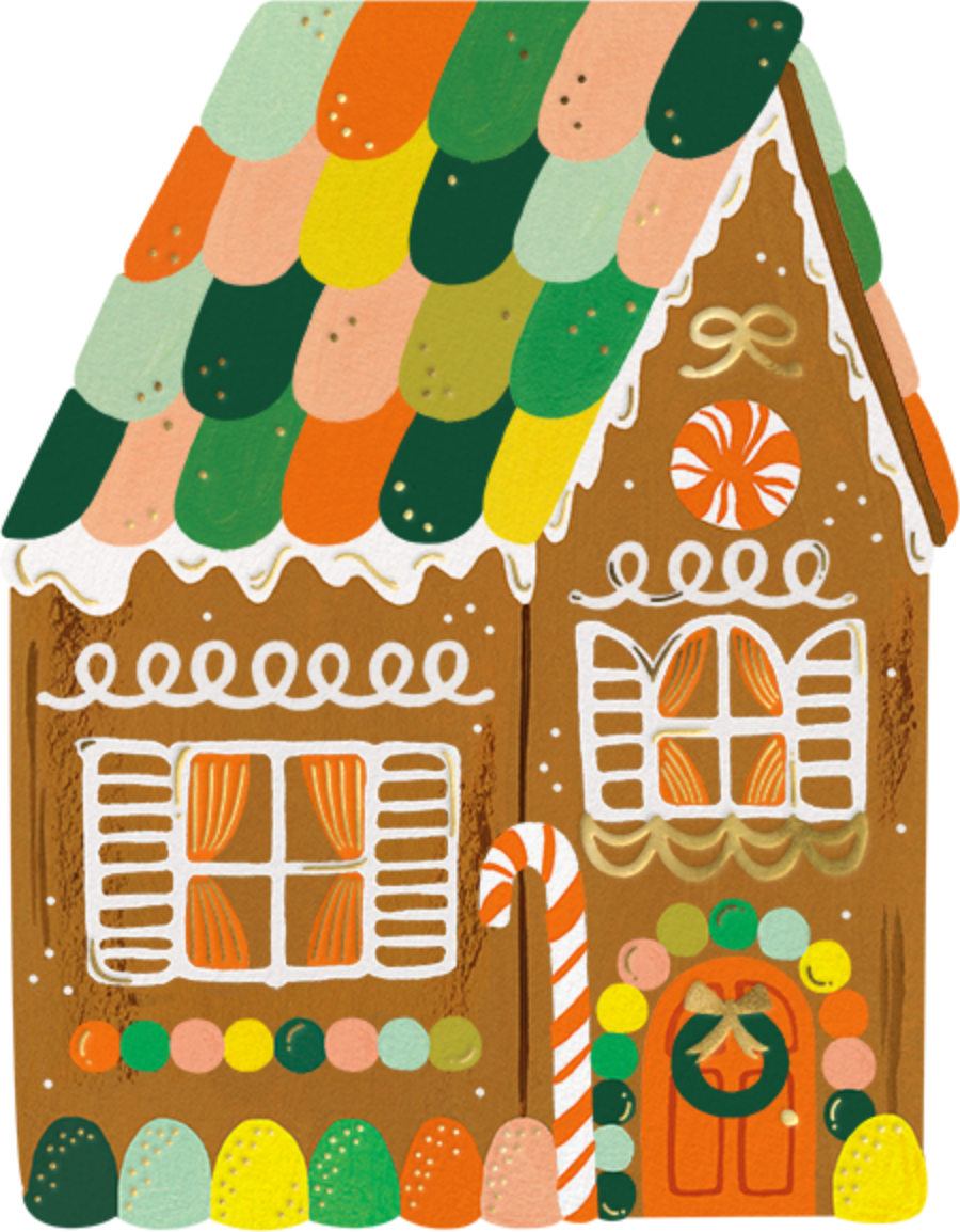 Gingerbread House (Invitation) - Rifle Paper Co. - Holiday party