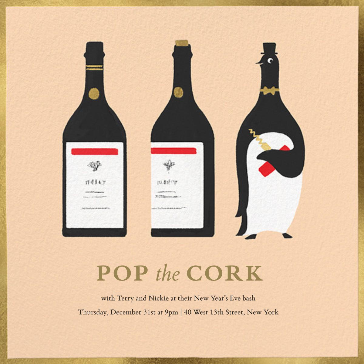 Penguin Popper - Paperless Post - New Year's Eve