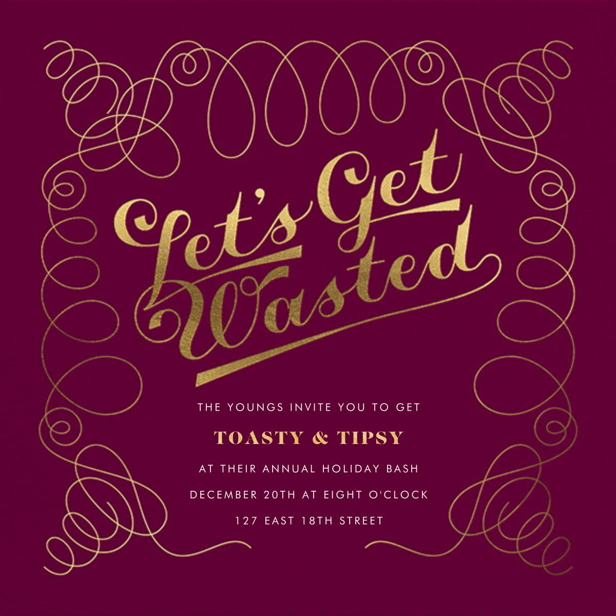 A Waste of an Invitation - Derek Blasberg - Holiday party