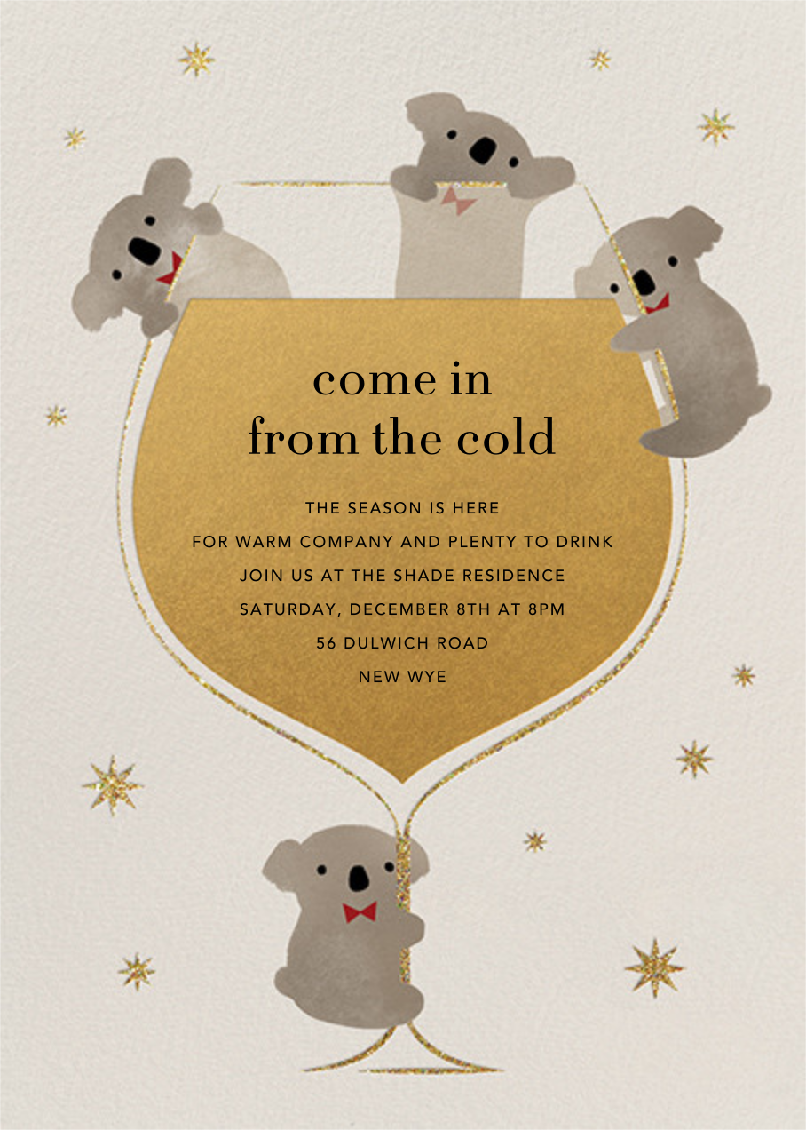 Do Drop By Bears - Paperless Post - New Year's Eve