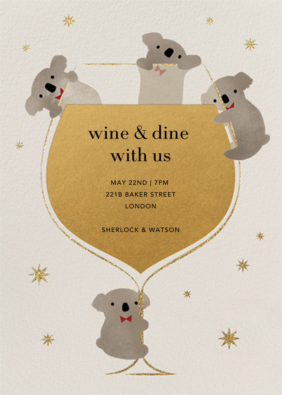 Do Drop By Bears - Paperless Post - Cocktail party