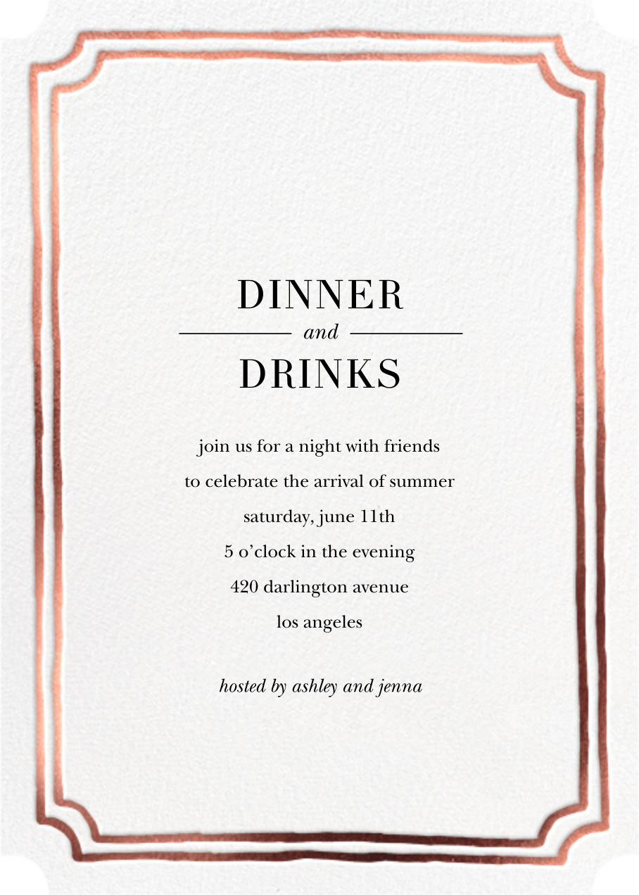 Roosevelt - Rose Gold - Sugar Paper - Dinner party