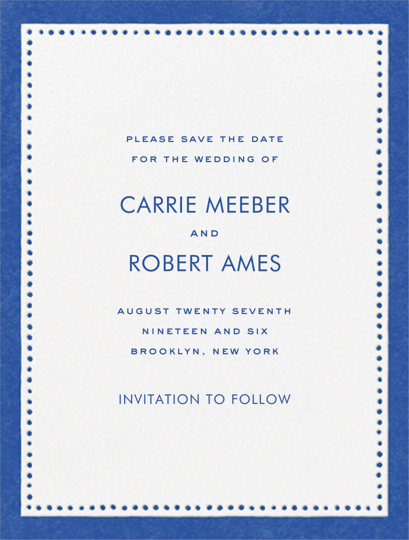 Charlotte Street I (Save the Date) - kate spade new york - Save the date