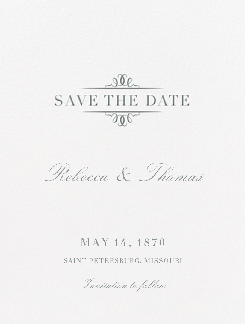 Cheverny (Save The Date) - Pewter Gray - Crane & Co. - Save the date