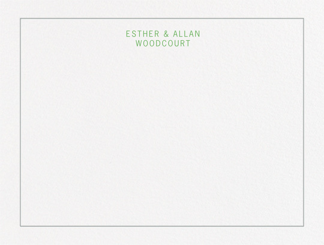 Parterre (Thank You) - Spring Green & Pewter Gray - Crane & Co. - Personalized stationery