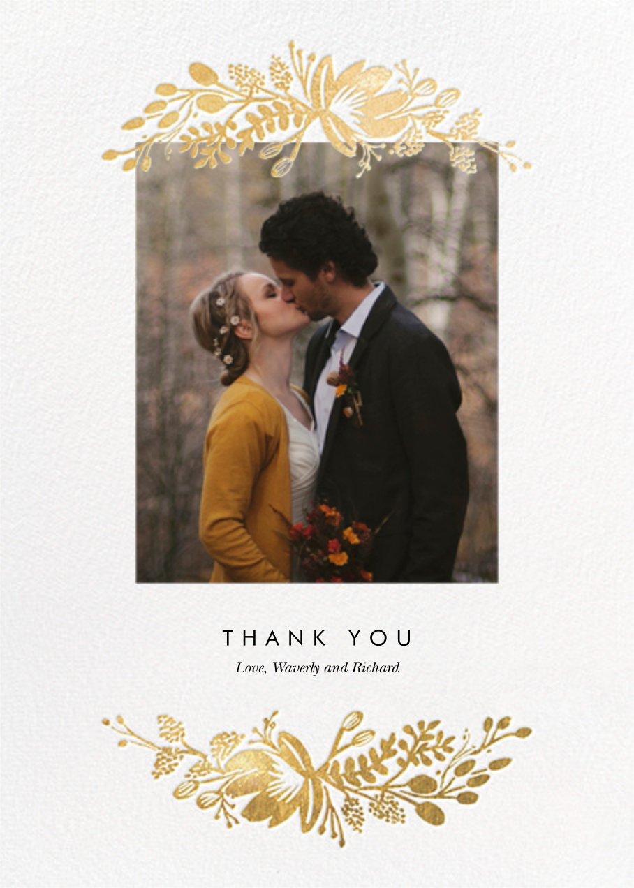 Floral Silhouette (Portrait Photo) - White/Gold - Rifle Paper Co. - Wedding