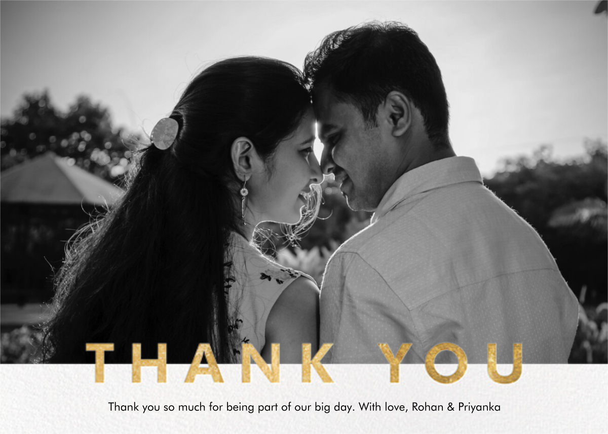 Field of Thanks Photo (Single-Sided) - Gold - Paperless Post