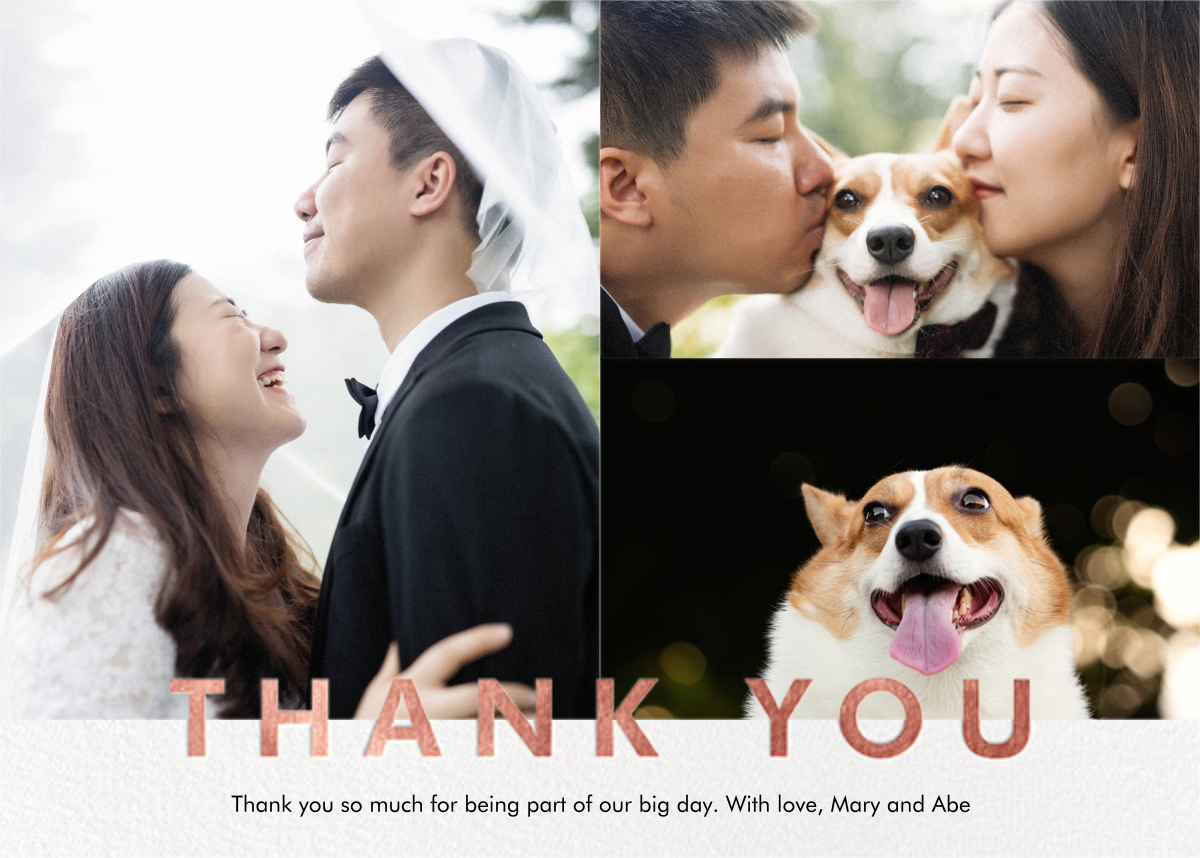 Field of Thanks Photo (Multi-Photo) - Rose Gold - Paperless Post