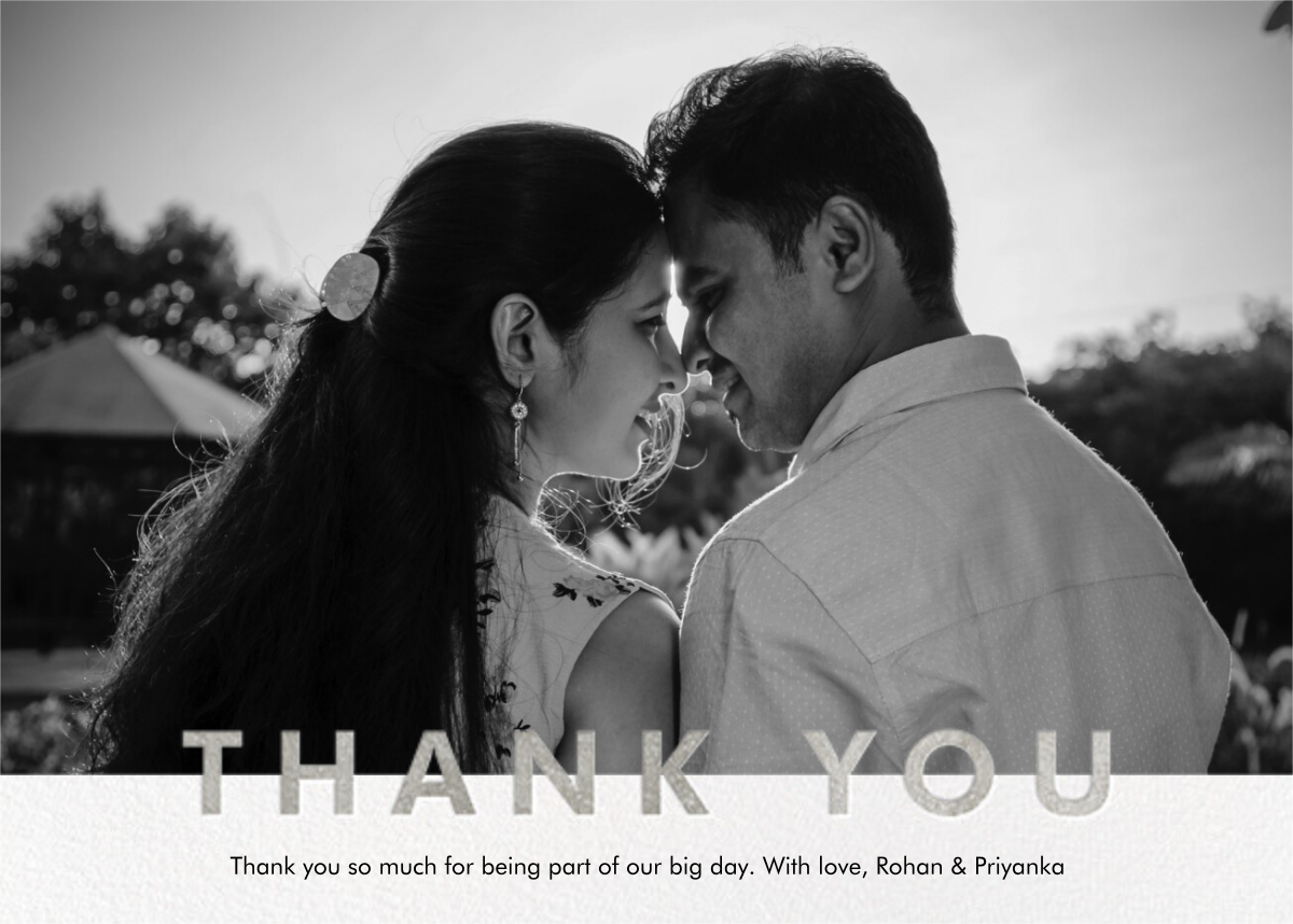 Field of Thanks Photo (Single-Sided) - Silver - Paperless Post