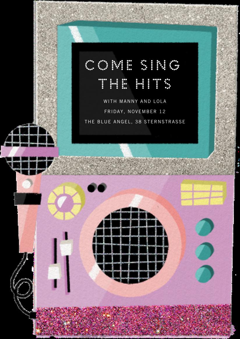 Karaoke Machine - Pink - Paperless Post - Adult birthday