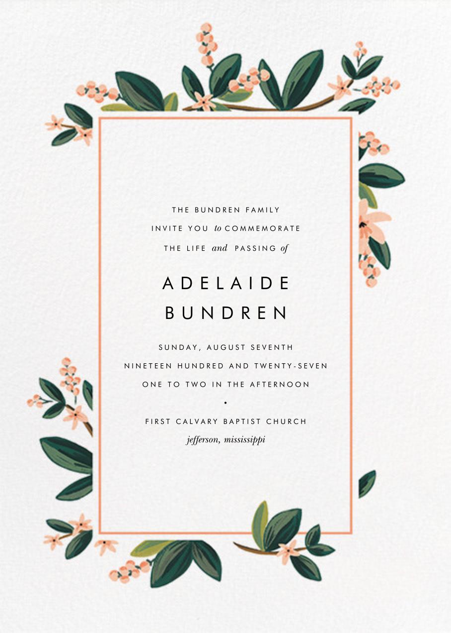 November Herbarium (Invitation) - Rifle Paper Co. - Memorial service