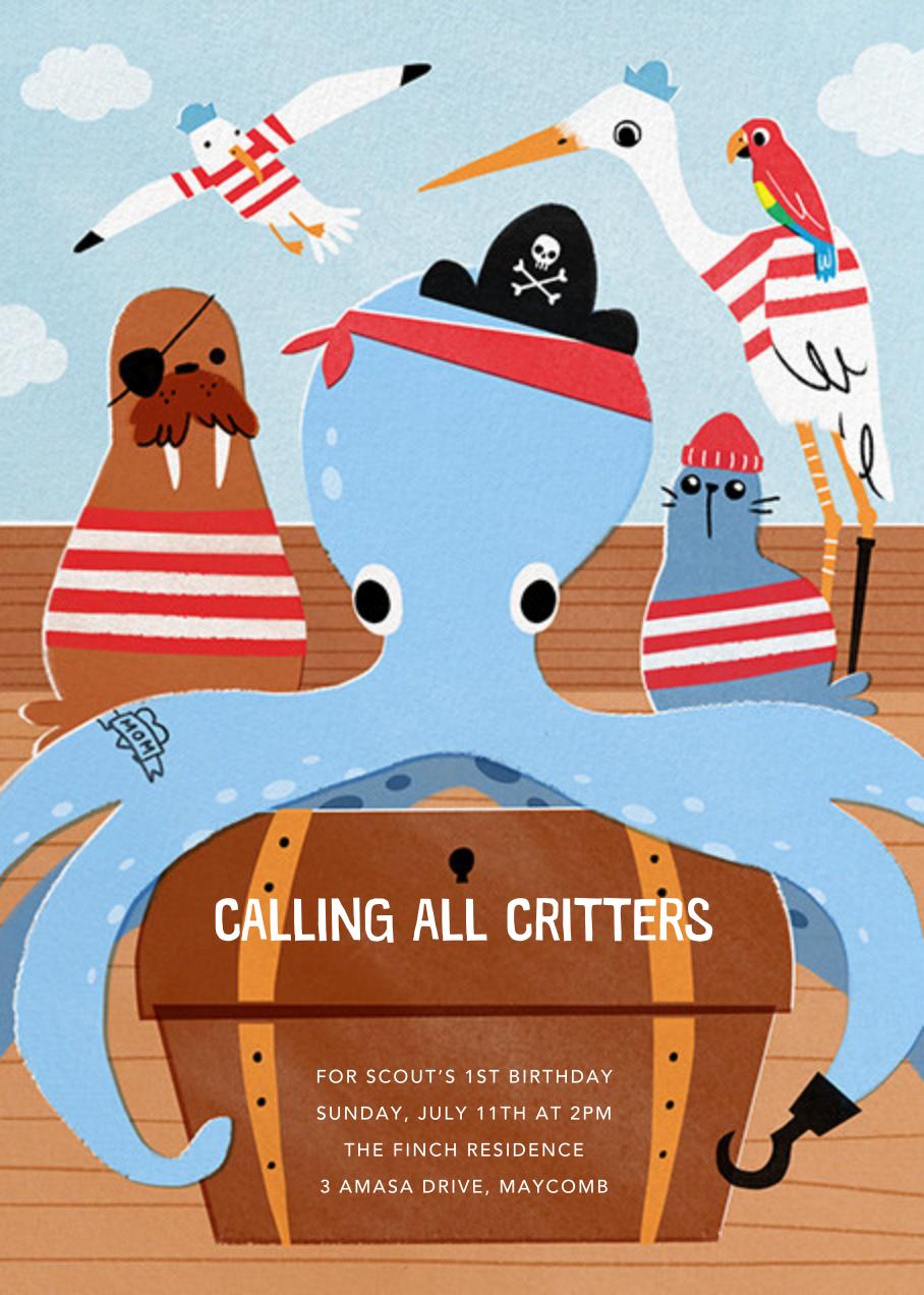 Octopiracy - Paperless Post - Kids' birthday