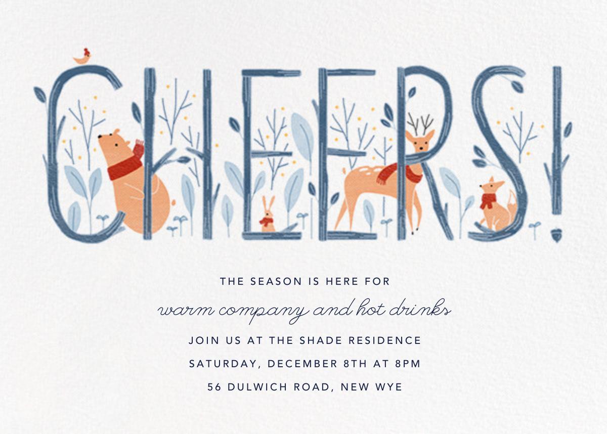 Woodland Toast - Paperless Post - Winter parties