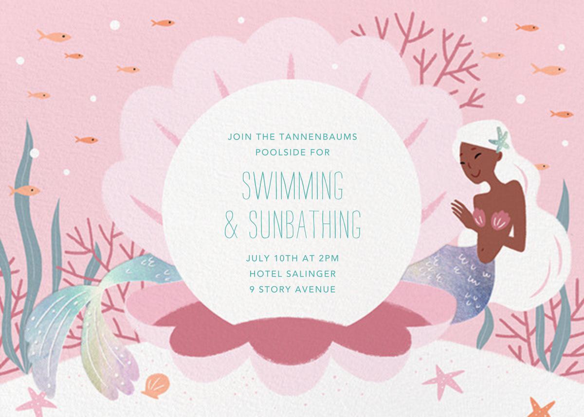 Mermaid Cove - Tan - Paperless Post - Pool party
