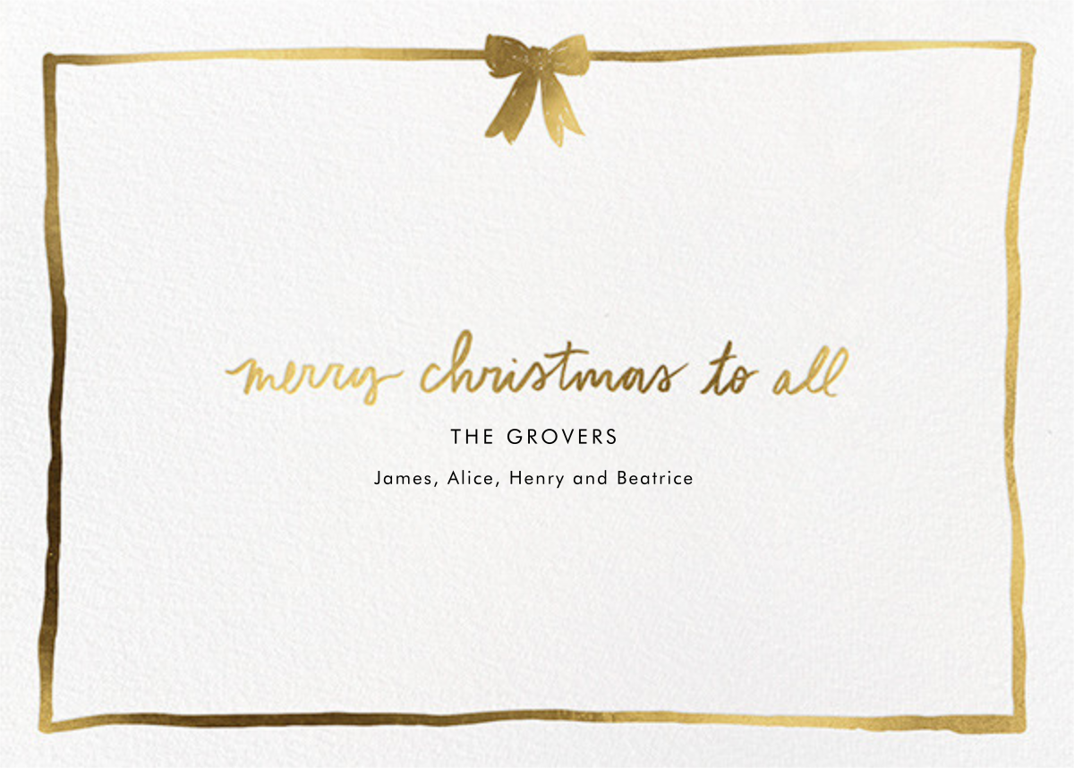 Golden Ribbon - Linda and Harriett - Christmas