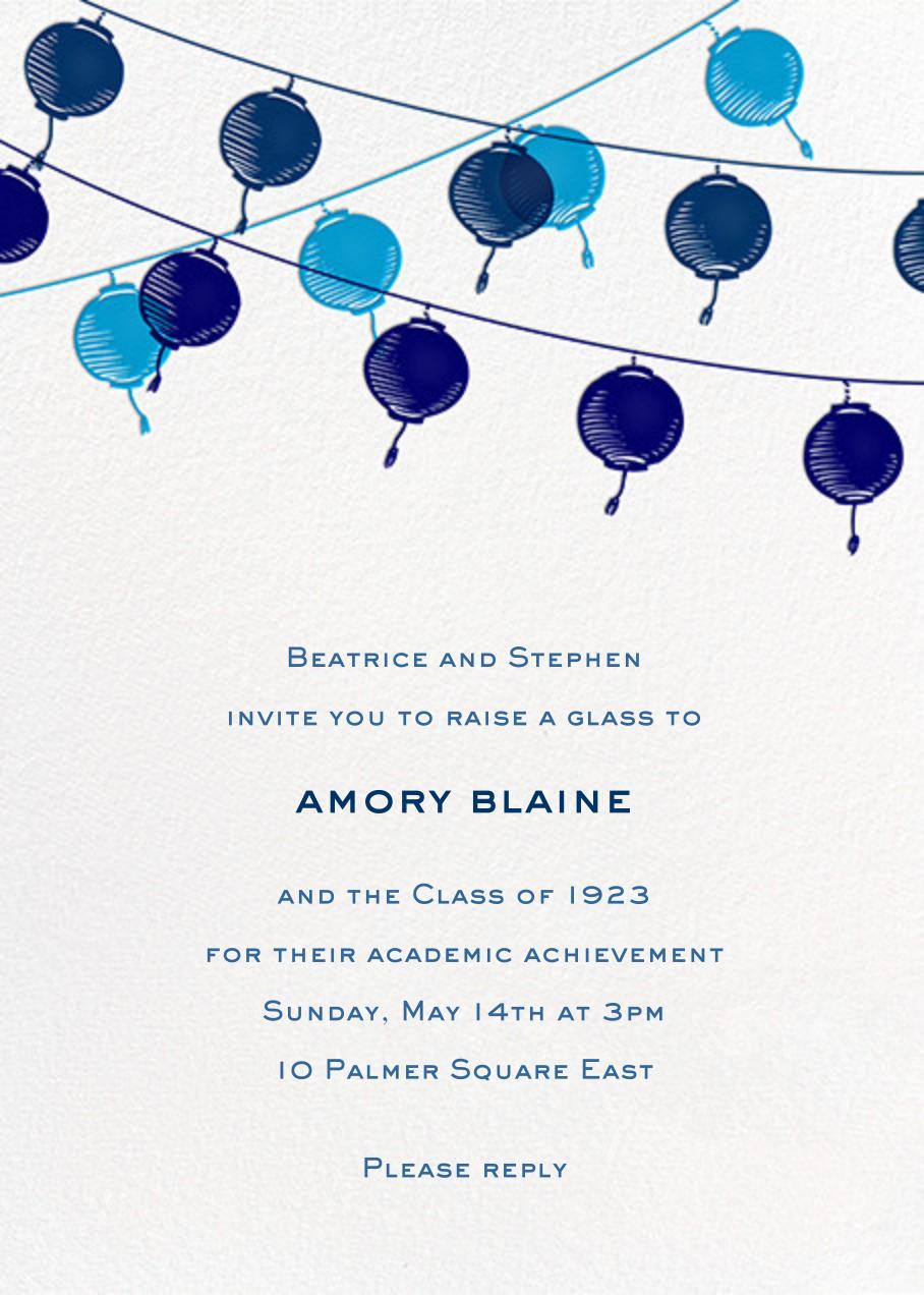 Lanterns - Blue - Paperless Post - Graduation party