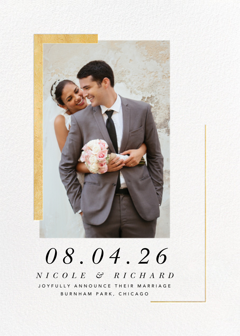 Ando Photo - Gold - Paperless Post - Wedding