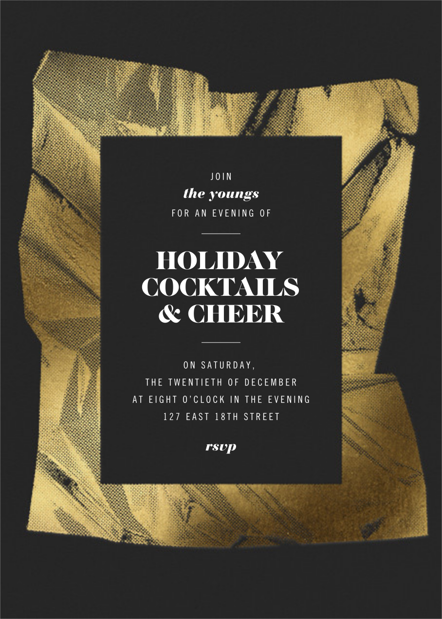 Unwrapped - Caviar - Paperless Post - Holiday party