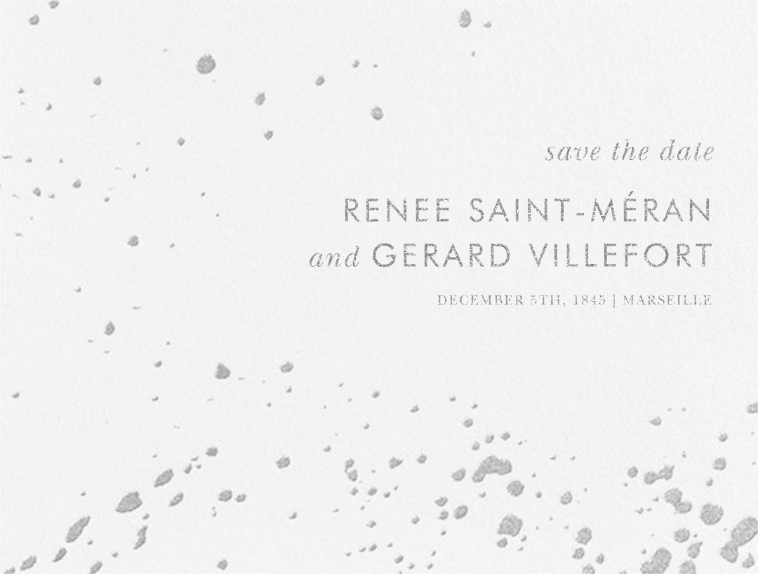 Splatter Cloth I (Save the Date) - Platinum - Paperless Post - Save the date