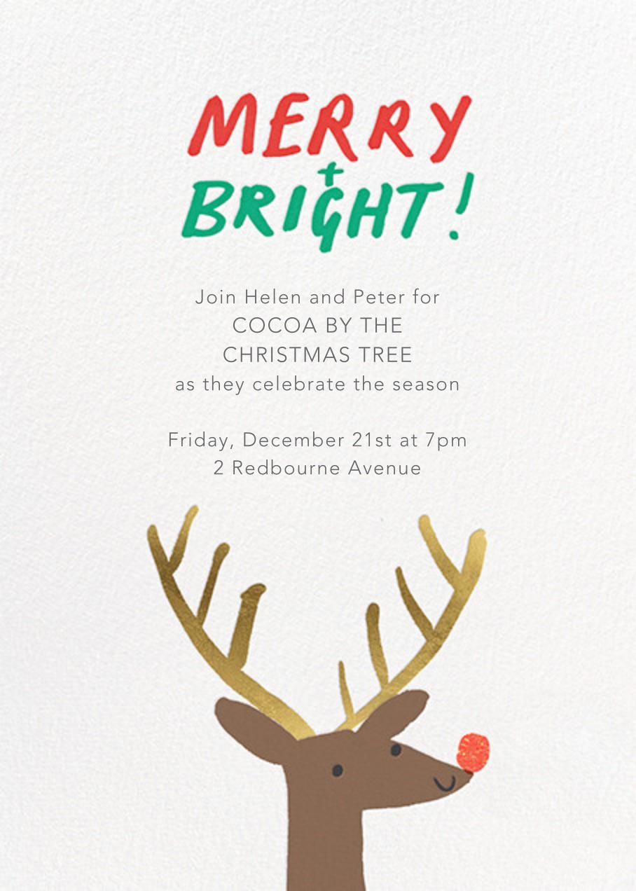 Nosy Reindeer - Meri Meri - Christmas party
