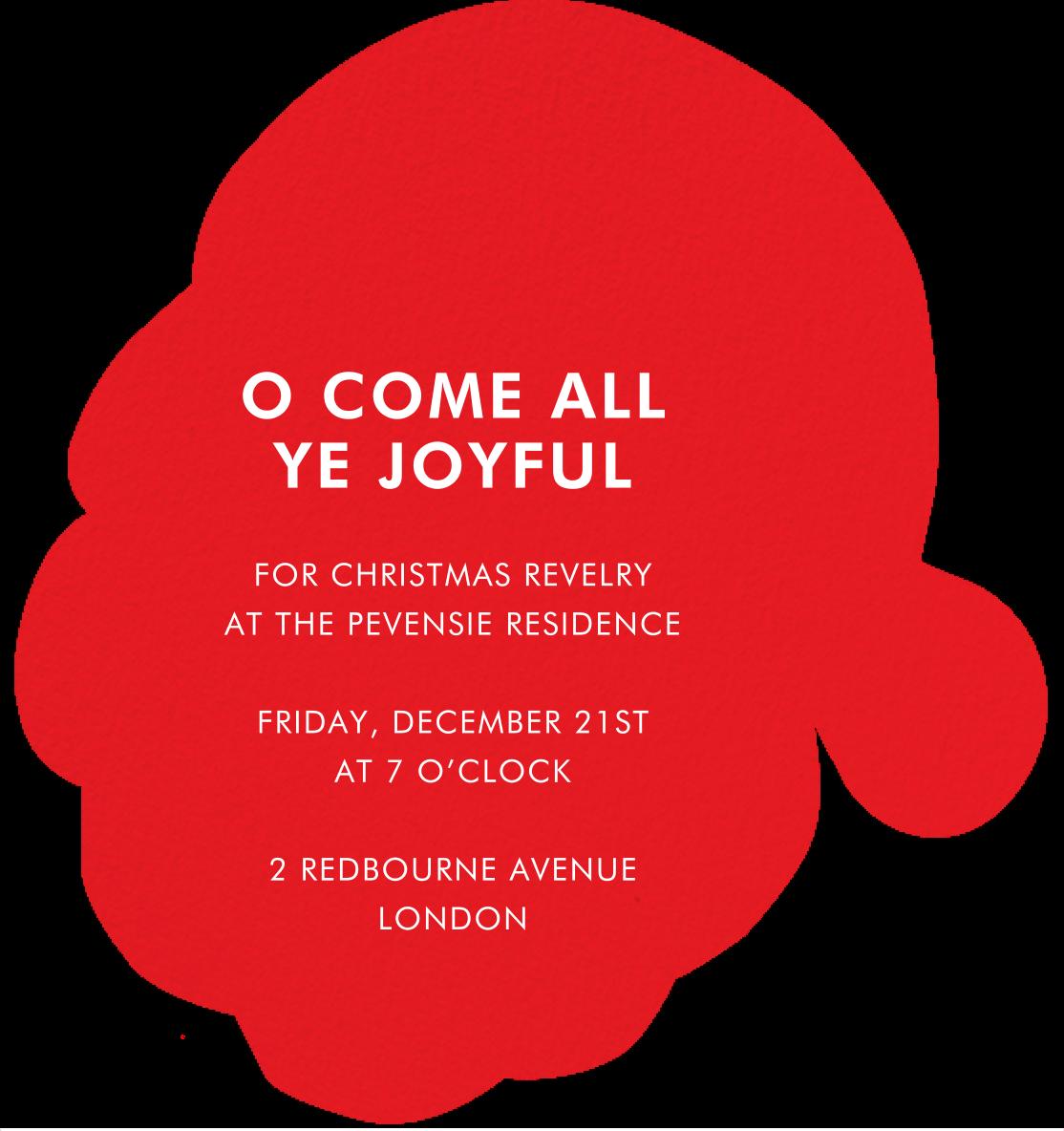 Santa's Satisfied - Meri Meri - Christmas party - card back