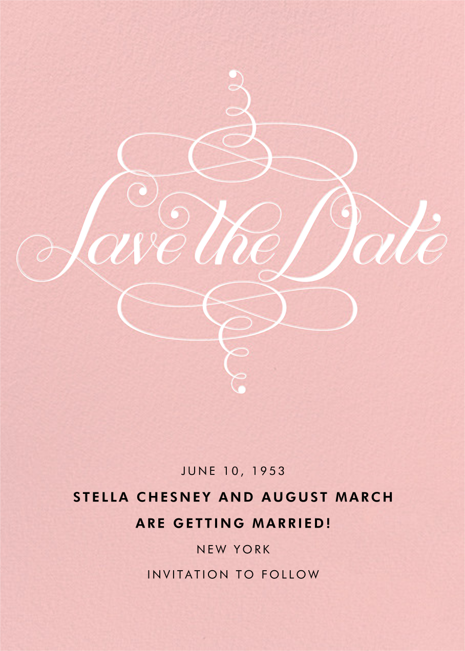 Signum Save the Date - Pavlova - Paperless Post - Save the date