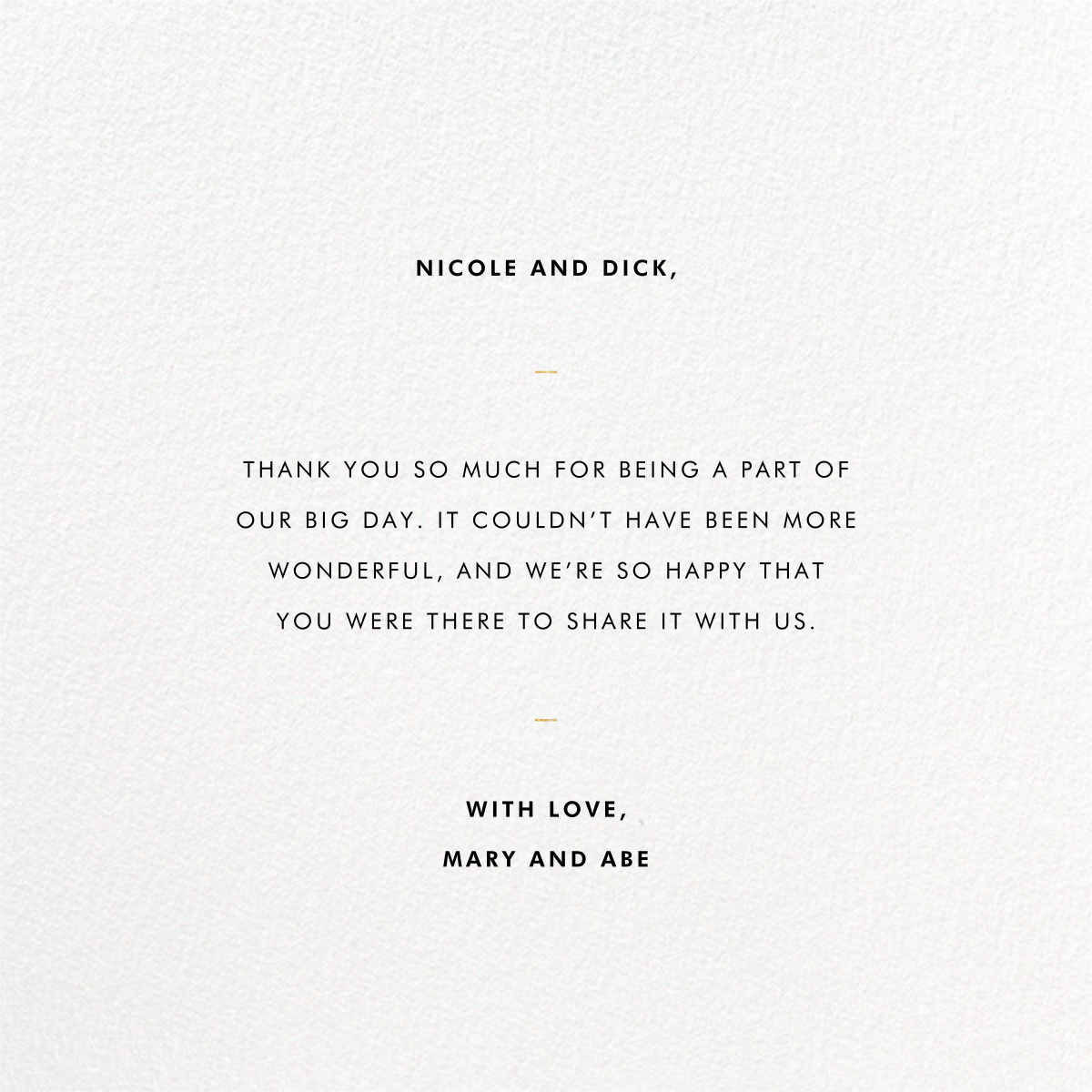 Signum Thank You - Paperless Post - Thank you - card back