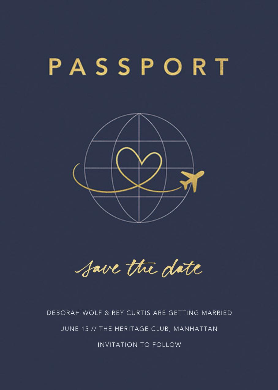 Passport to Romance - Paperless Post - Save the date