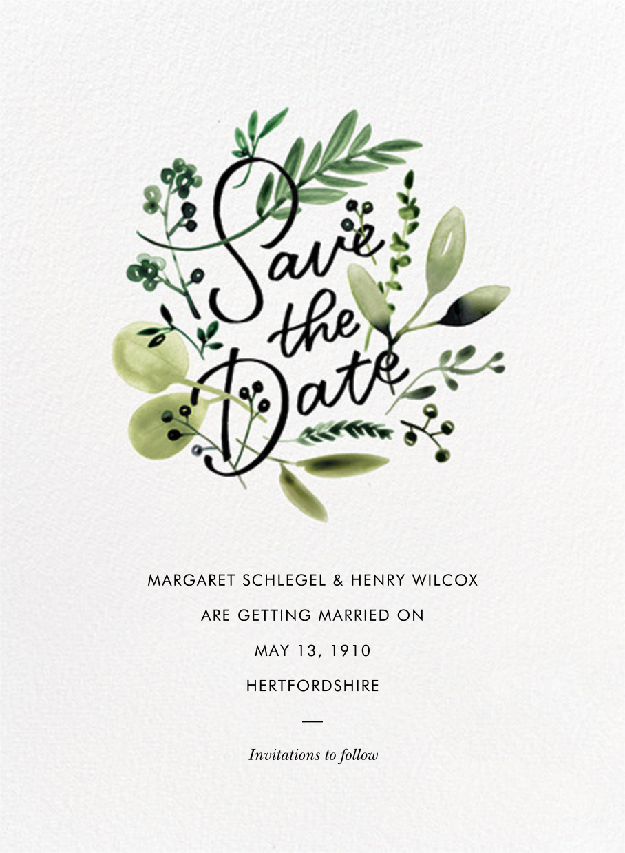 Mountain Greenery - Paperless Post - Save the date