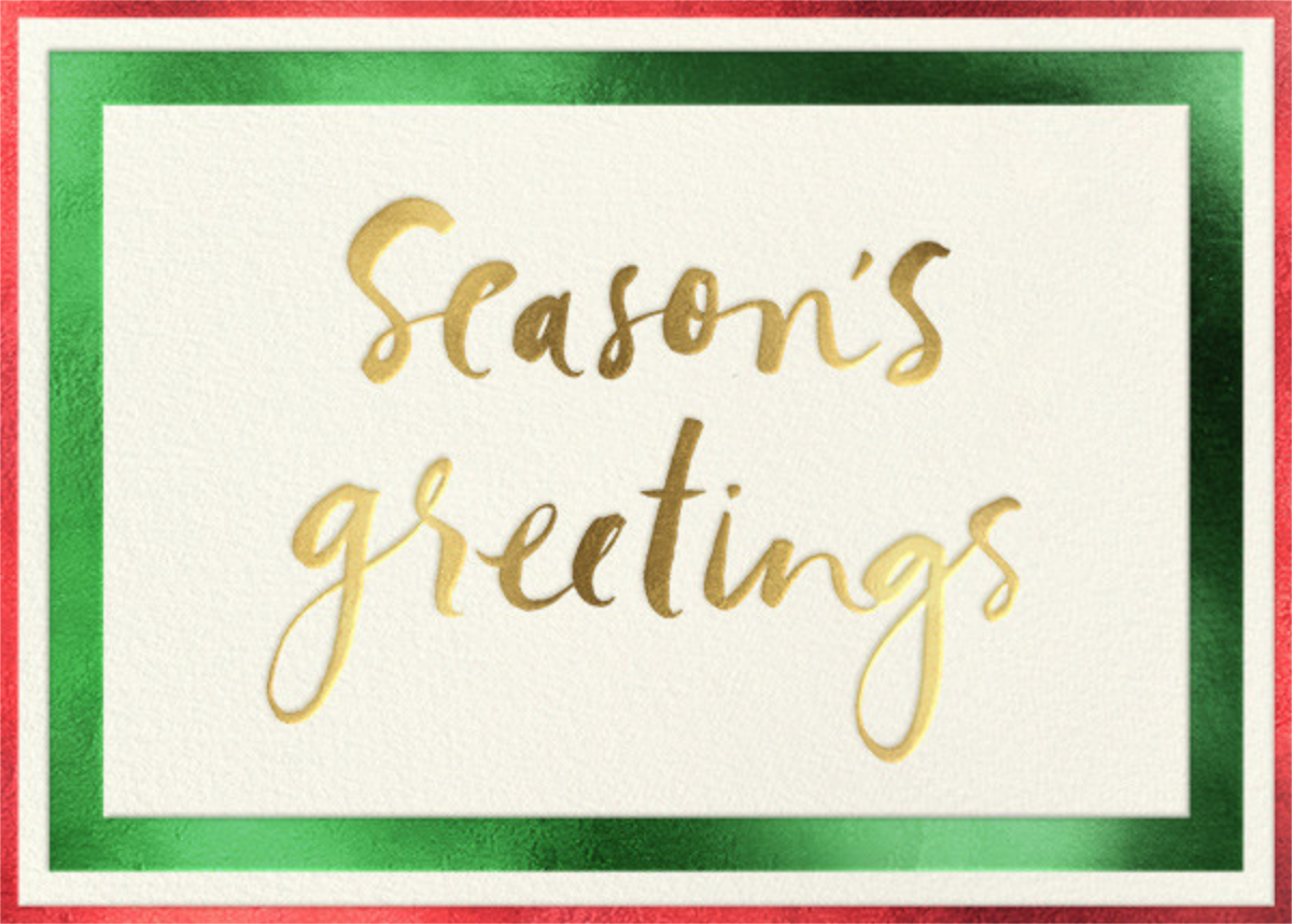 Glimmering Greetings - kate spade new york - Holiday cards