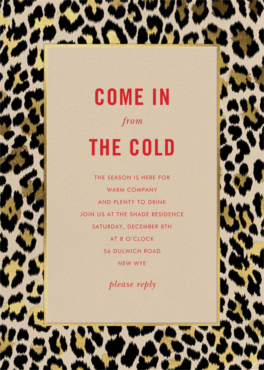 Leopard Border - Champagne - kate spade new york - Winter entertaining