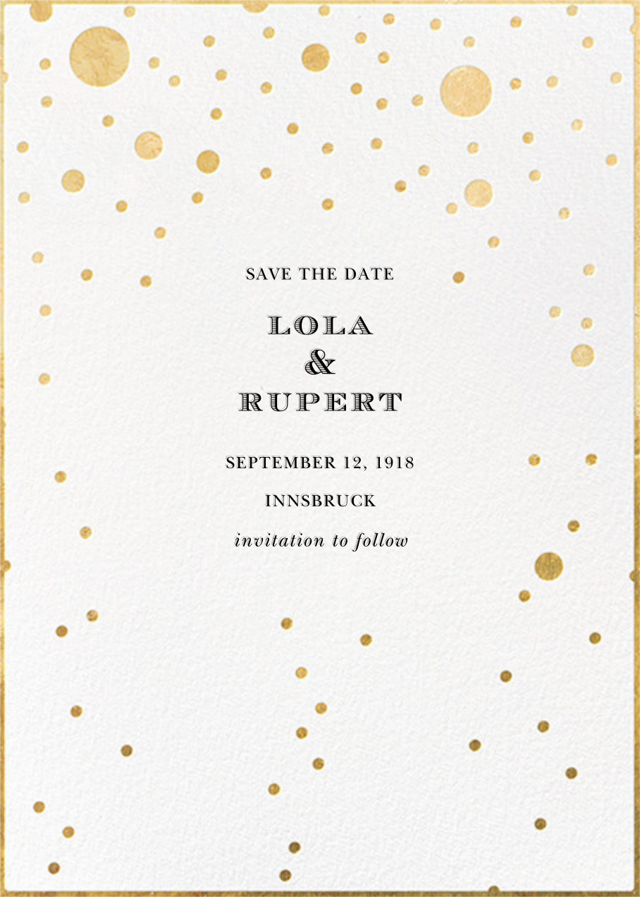 Champagne Bubbles (Single-Sided) - kate spade new york - Save the date