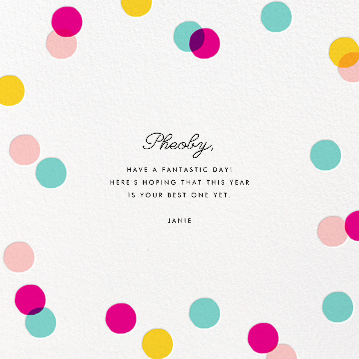 Carnaby (Photo) - Multi - Paperless Post - Birthday cards for her - card back