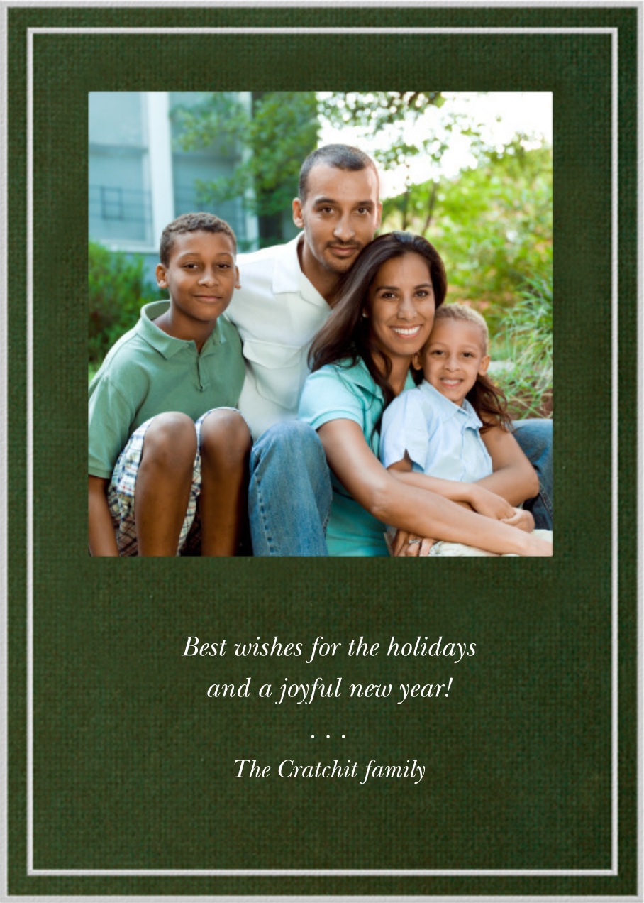 Double Border Square Photo - Hunter - Paperless Post - Holiday cards