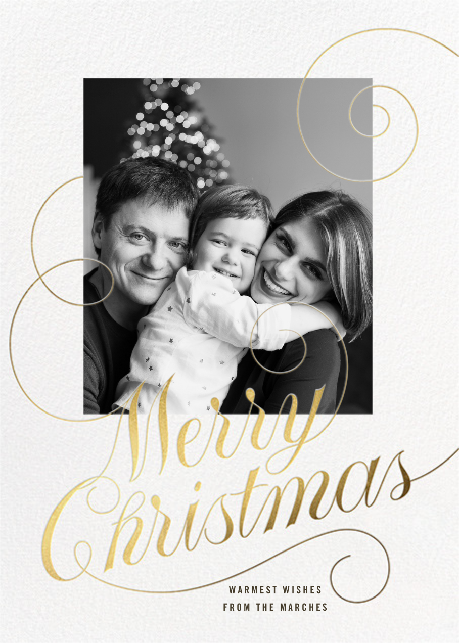 Christmas Curlicue - Paperless Post