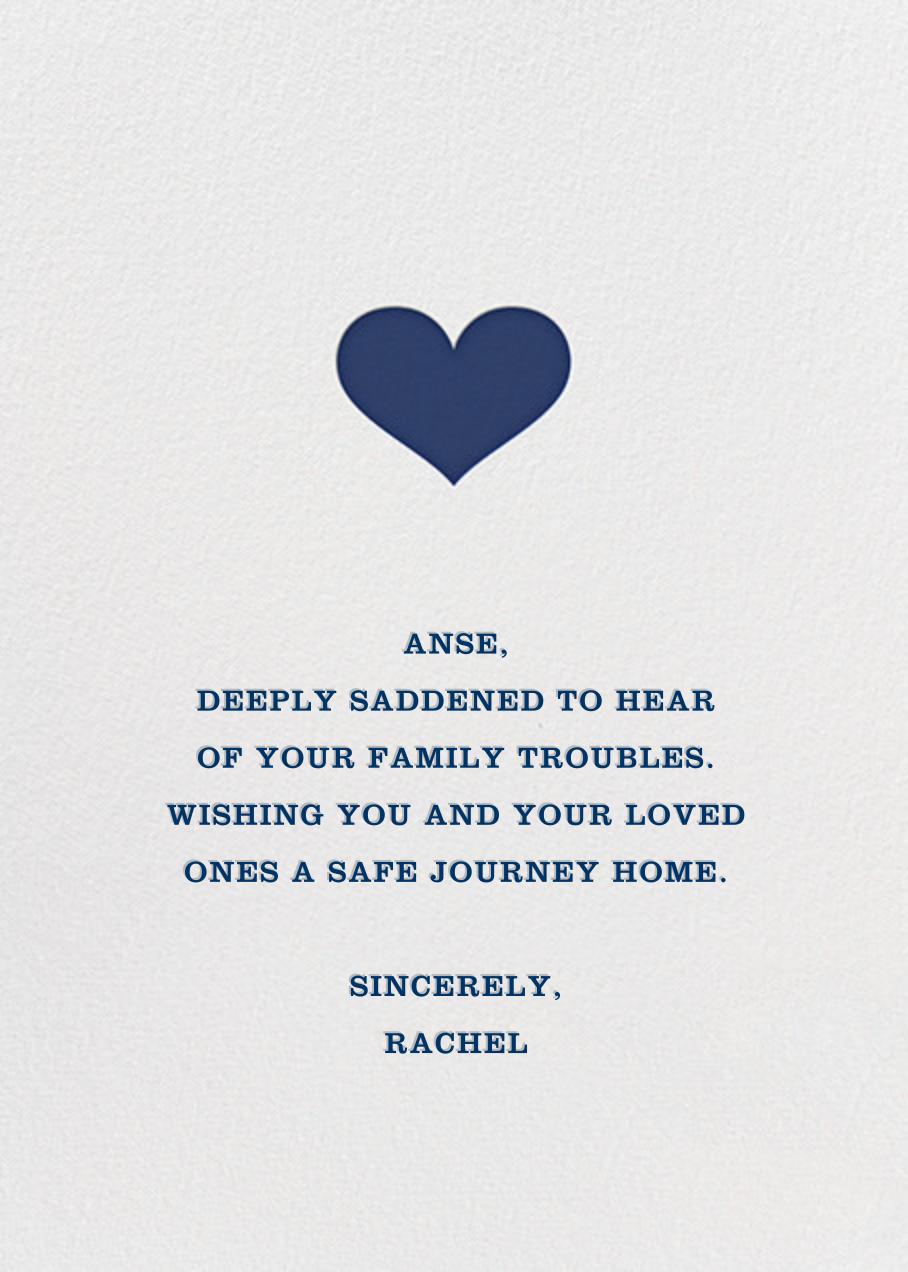 Glory of Love - Blue - Jonathan Adler - Sympathy - card back