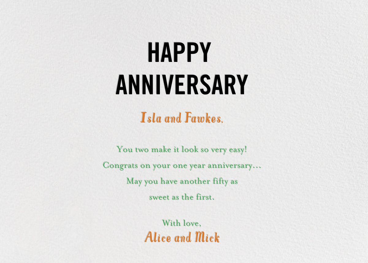 Bird Seed - Black - Mr. Boddington's Studio - Anniversary cards - card back